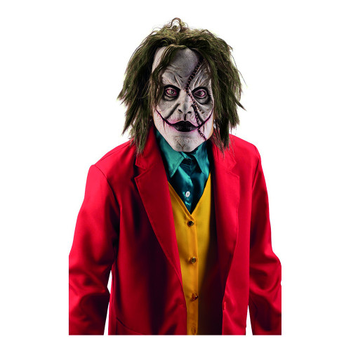 Galen Clown Latexmask med Hår - One size