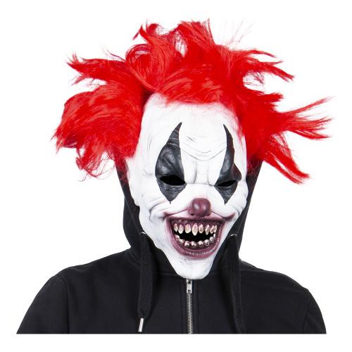 Cirkusclown Mask med Hår - One size
