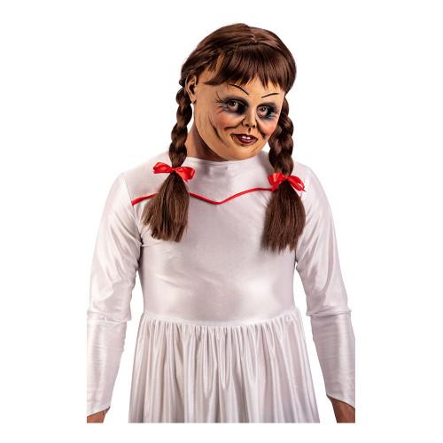 Skräckdocka Mask med Hår - One size