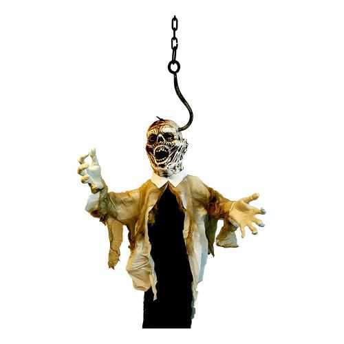 Zombie Hängande med Krok och Ljud/Rörelse Prop