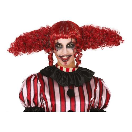 Clowndam Röd Peruk - One size