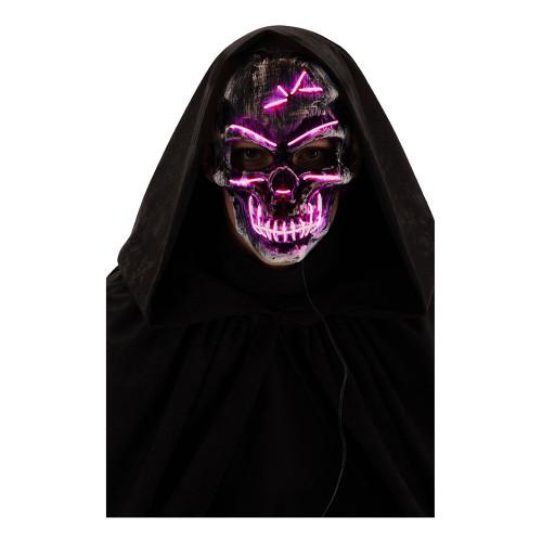 El Wire Skull Man LED Mask - One size