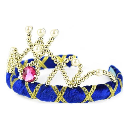 Diadem Prinsessa Sammetsblå Deluxe - One size