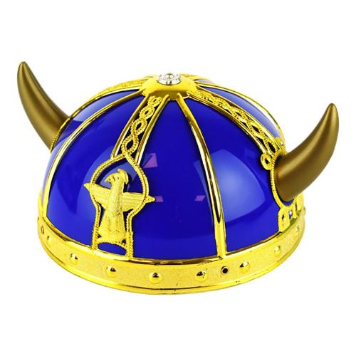 Vikingahjälm Gul/Blå Barn - One size