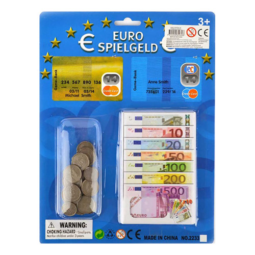 Spelpengar Euro - 20+70-pack