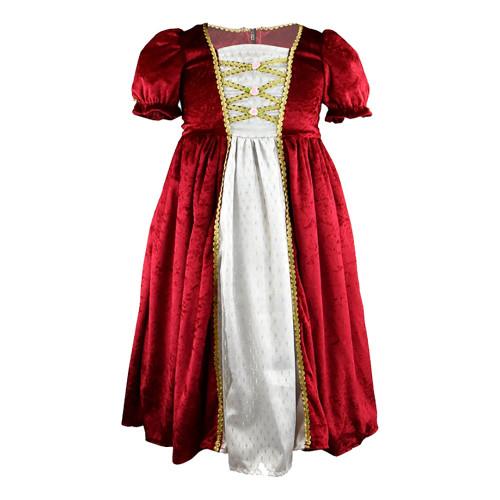 Prinsessklänning Sammetsröd Barn