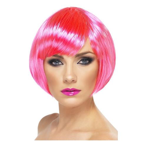 Baby Pink Peruk Dam Kort - One size
