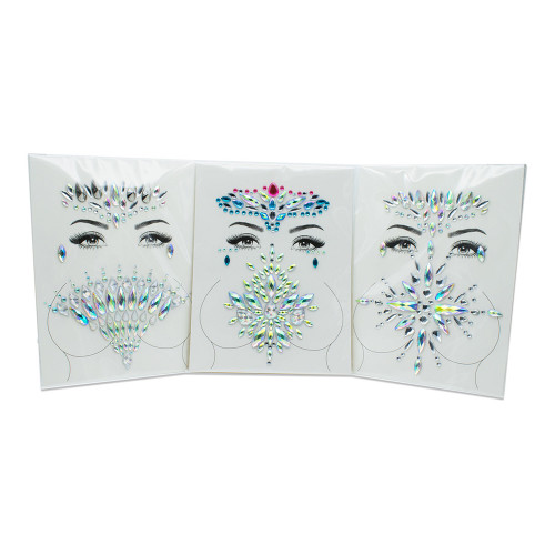 GlitzyGurl Ansikts- & Kroppssmycken - 6-pack