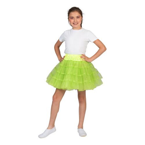 Tyllkjol Barn Glittergrön - One Size