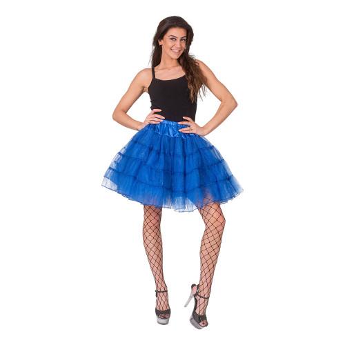 Tyllkjol Glitterblå - One Size