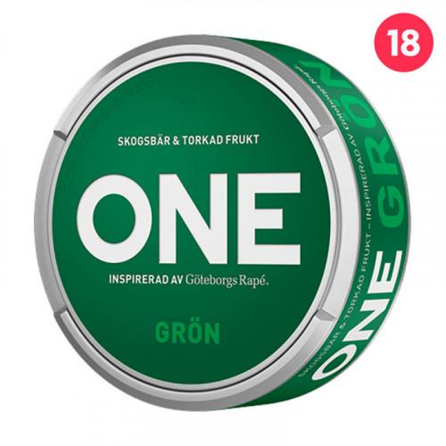 Göteborgs Rapé ONE GRÖN 10-pack utgånget