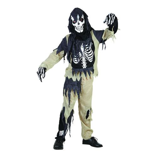 Skelett Zombie Barn Budget Maskeraddräkt