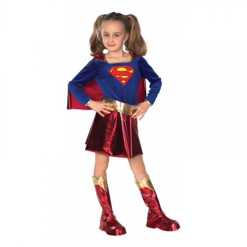 Supergirl Deluxe Barn Maskeraddräkt