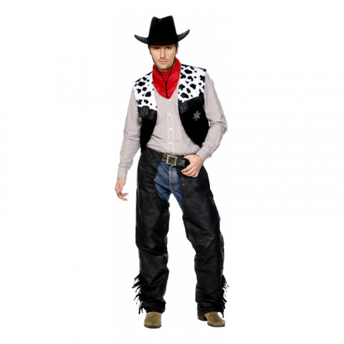 Lädercowboy Maskeraddräkt