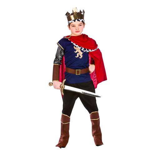 Medeltida Kung Barn Budget Maskeraddräkt