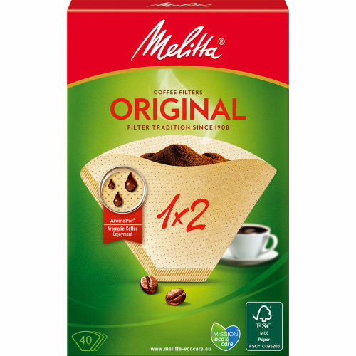 Melitta Kaffefilter 1X2 40pack (Obs 18