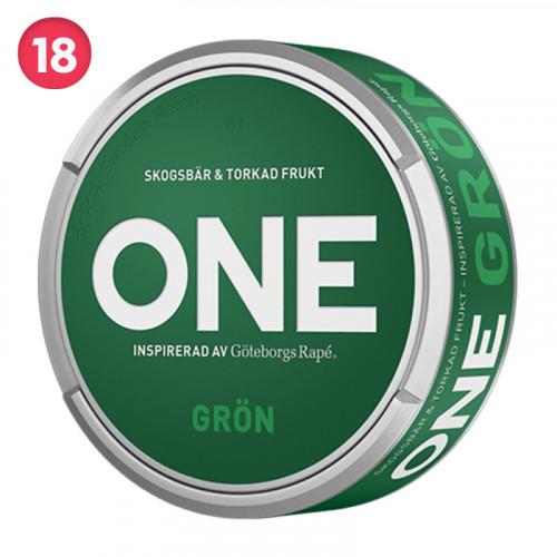 Göteborg Rapé ONE GRÖN 10-pack utgånget