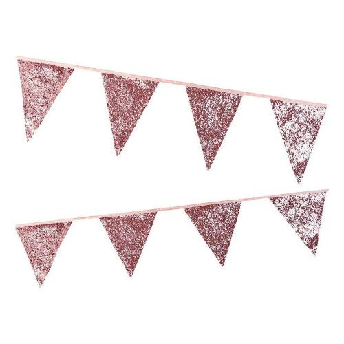 Flaggirlang Lyx Rosa/Glitter - 300 cm