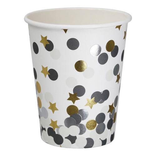 Pappersmuggar Dots & Stars - 8-pack