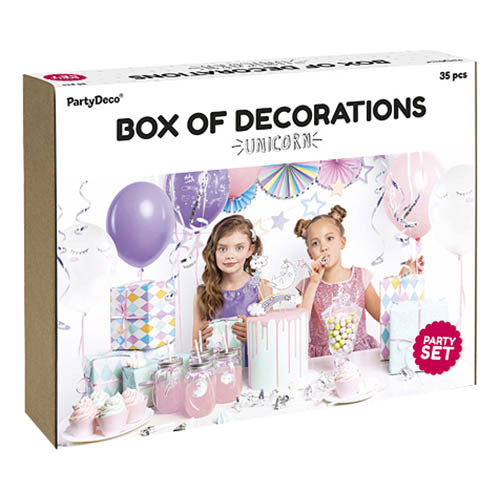 Dekorationspaket Unicorn - 35 delar