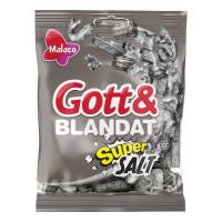 Malaco Gott & Blandat Supersalt 130 g