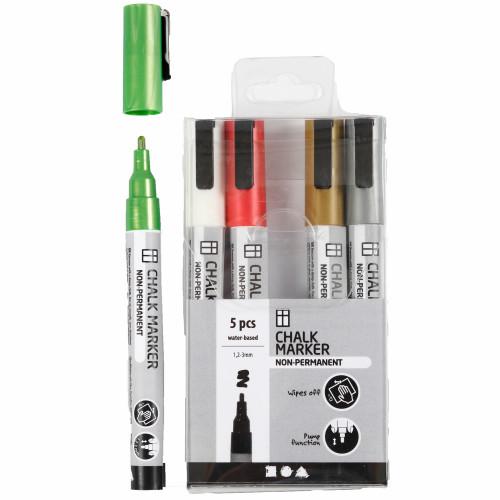 Colortime Chalk markers metallicfärger