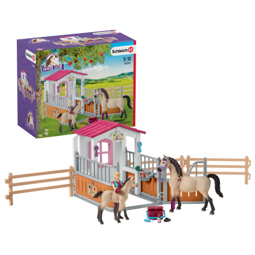 Schleich Horse stall with Arab horses a