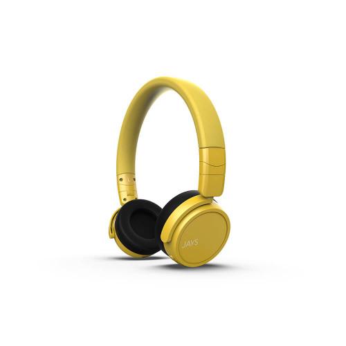 JAYS Hörlur x-Seven Trådlös On-Ear Gul
