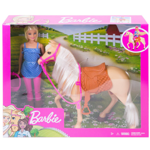 Barbie Doll and Horse (Blonde)