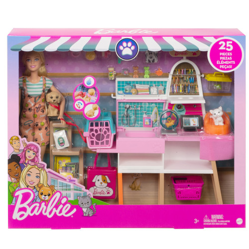 Barbie Pet Supply Store Doll and Play