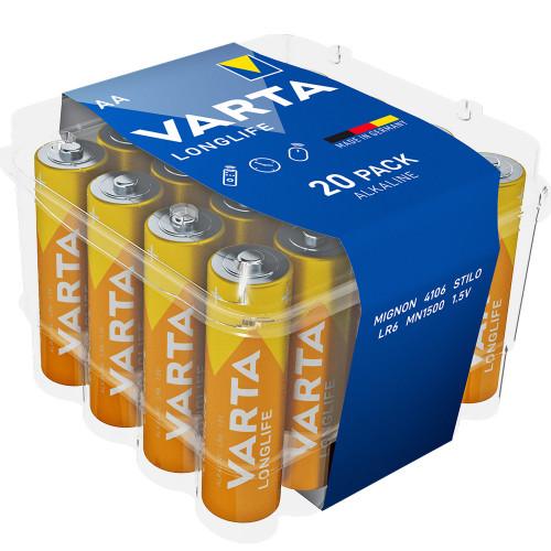 VARTA Longlife AA / LR6 Batteri 20-p