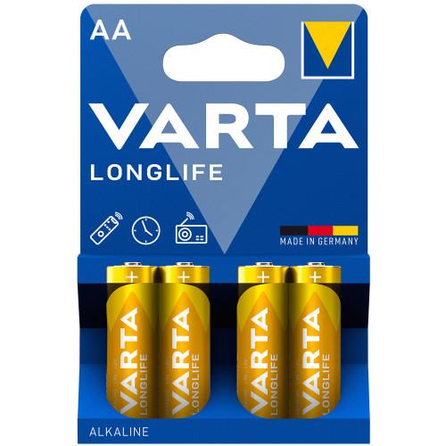 VARTA Longlife AA / LR6 Batteri 4-pa