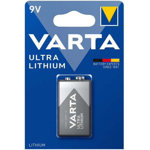 VARTA Ultra Lithium 9V Batteri 1-pac
