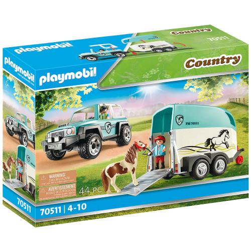 Playmobil Bil med hästtrailer