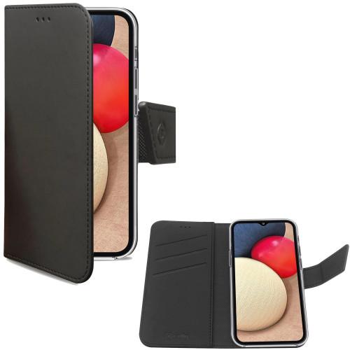 Celly Wallet Case Galaxy A02s Svart