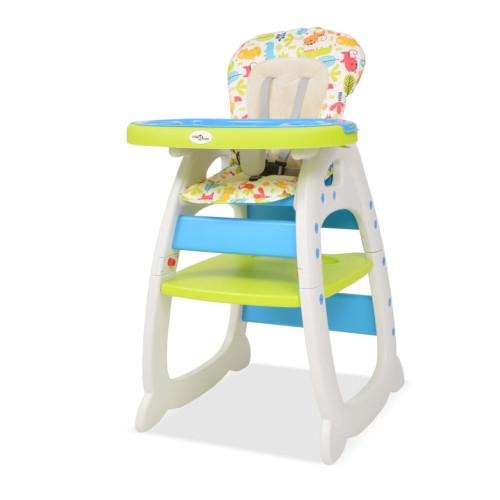 Dream Living 3-i-1 Konvertibel barnstol med bord blå och grön