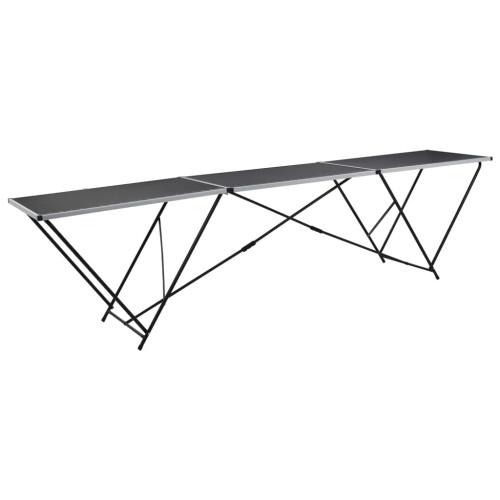 Dream Living Hopfällbart tapetbord MDF och aluminium 300x60x78 cm