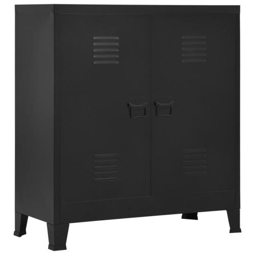 vidaXL Dokumentskåp industriell svart 90x40x100 cm stål