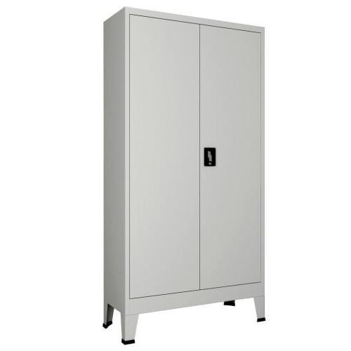 vidaXL Dokumentskåp med 2 dörrar stål 90x40x180 cm grå