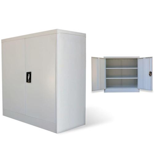 vidaXL Kontorsskåp 2 dörrar 90 cm stål