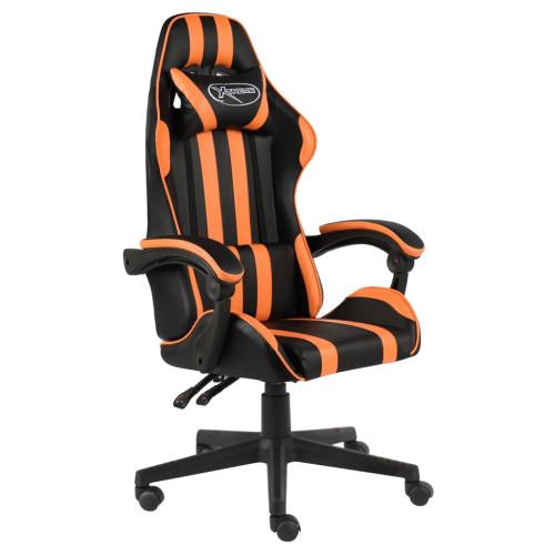 Dream Living Gamingstol svart och orange konstläder