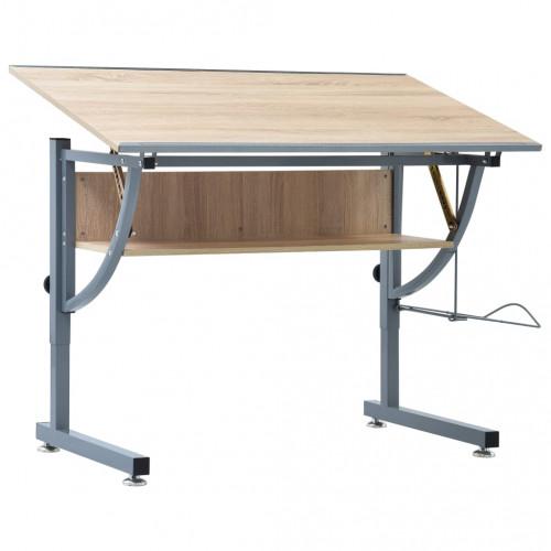 vidaXL Ritbord för tonåringar ek 110x60x87 cm MDF