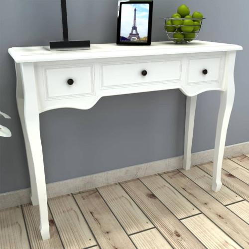 Dream Living Konsolbord med tre lådor vit