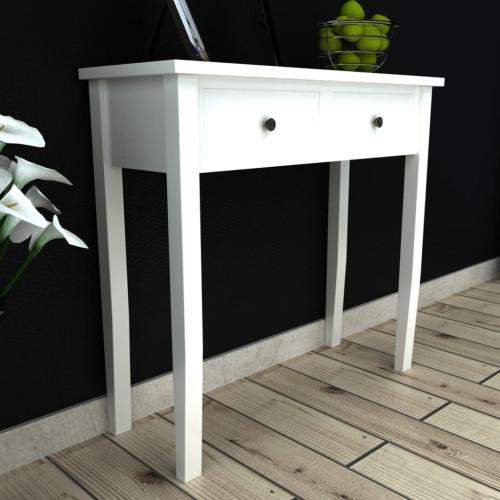 Dream Living Avlastningsbord med två lådor vit
