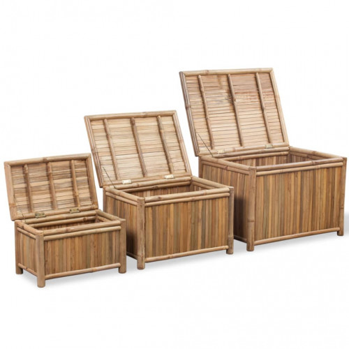 Dream Living Förvaringslådor i bambu 3 st