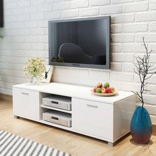 Dream Living TV-bänk högglans vit 140x40,3x34,7 cm