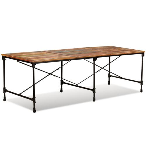 vidaXL Matbord i massivt återvunnet trä 240 cm