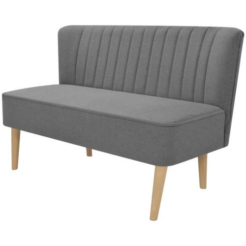 vidaXL Soffa 117x55,5x77 cm tyg ljusgrå