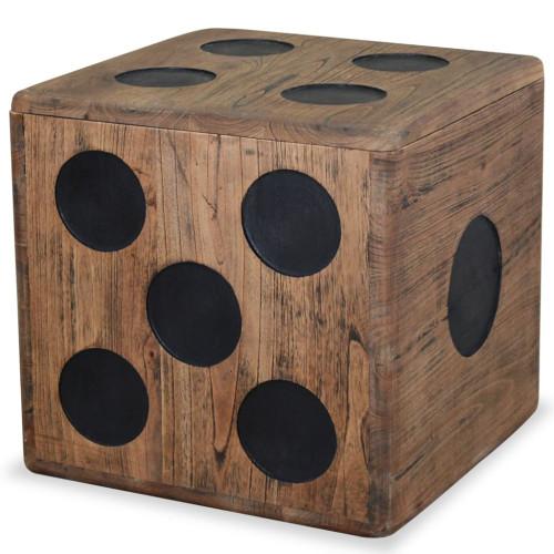 Dream Living Förvaringsbox mindi-trä 40x40x40 cm tärningsdesign