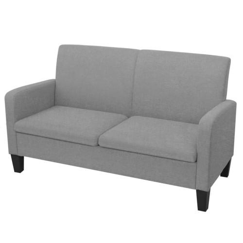 vidaXL 2-sitssoffa 135x65x76 cm ljusgrå